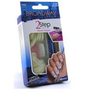 Broadway 2 Step Nail Kit Natural Square 48 Nails