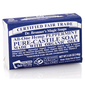 Dr Bronner's Organic Soap Bar Peppermint 140g