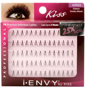 Kiss iEnvy Individual Lashes- Classic Combo Black